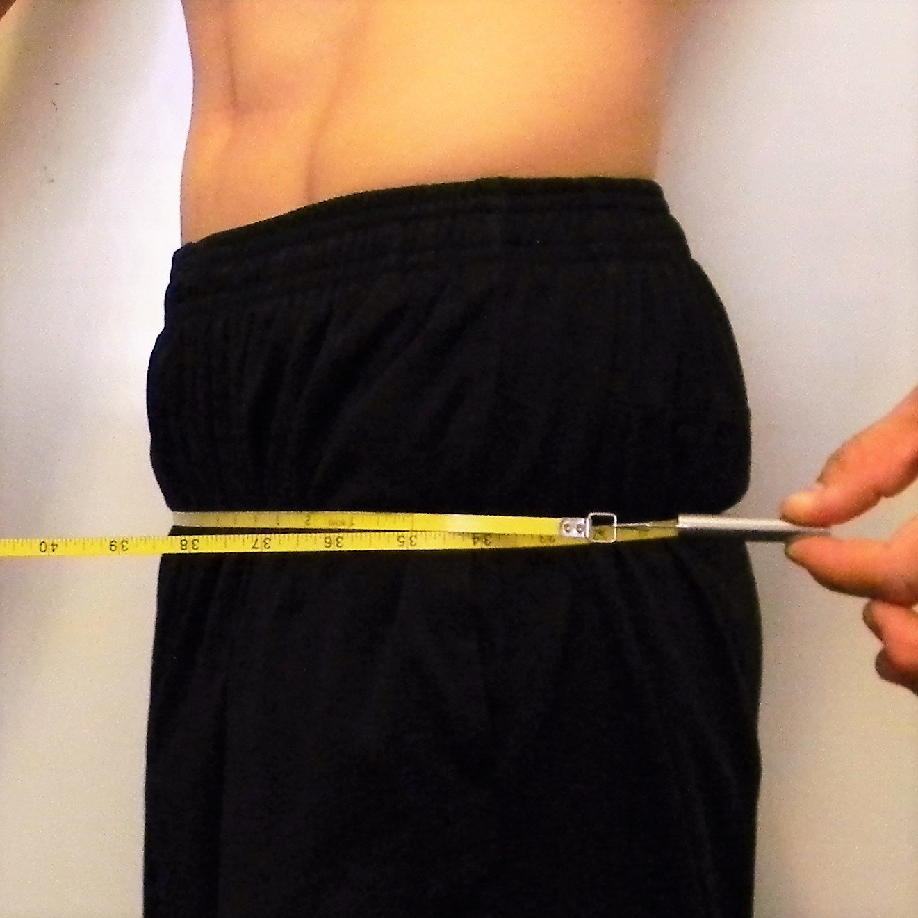 Circumference measure of the hips.