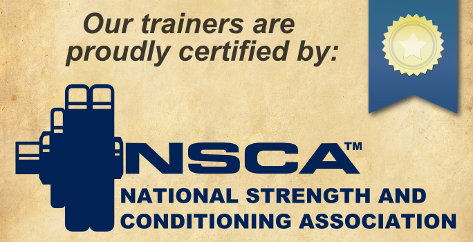 Pike Fitness Proudly Offers Training by NSCA Certified Professionals